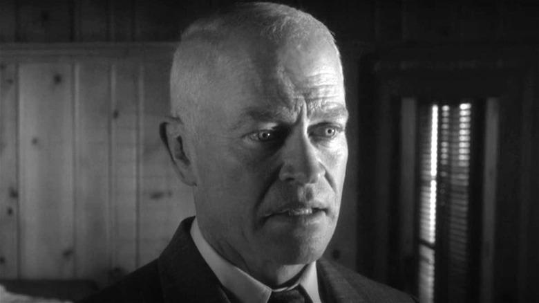 President Eisenhower looking concerned