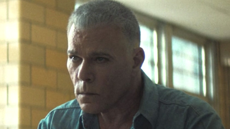 Ray Liotta scowling in The Many Saints of Newark