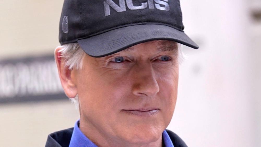 Gibbs wears NCIS hat