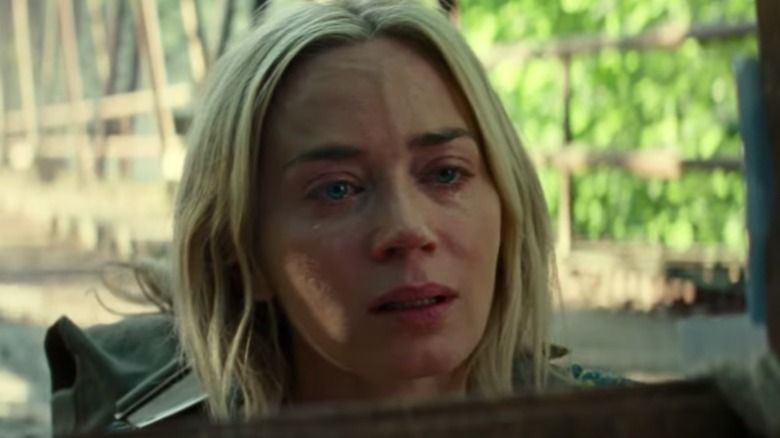 Emily Blunt Evelyn Abbott crying