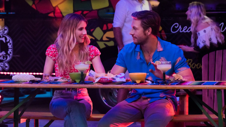 Emma Roberts and Luke Bracey in The Holiday
