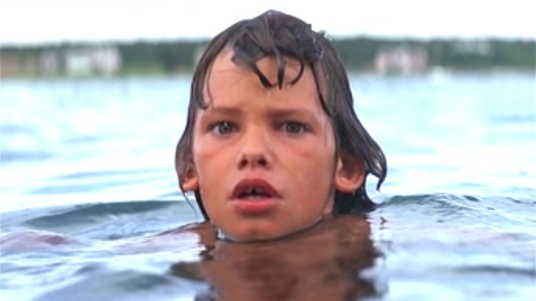 Kid in water in Jaws