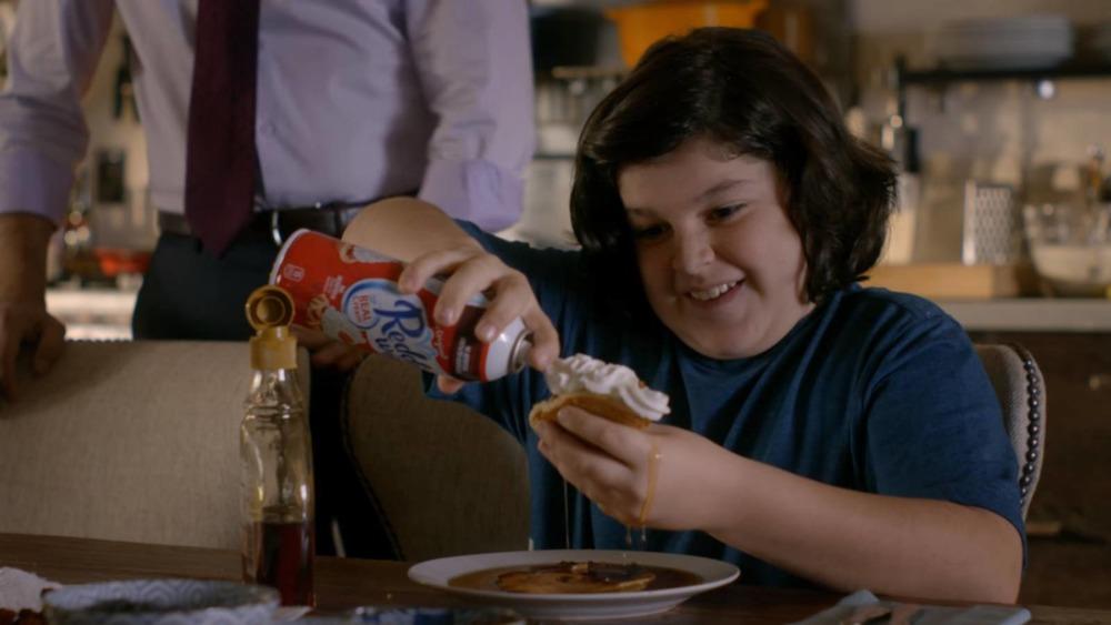 Anthony LaRusso eating waffles