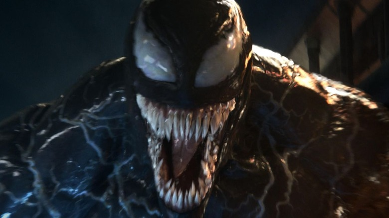 Venom with mouth open