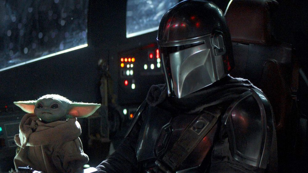 The Mandalorian with The Child on The Mandalorian