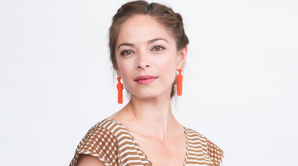 Kristin Kreuk wearing bold earrings