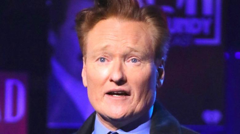 Conan O'Brien talking