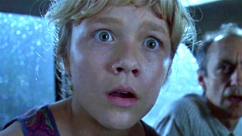 Young girl in 'Jurassic Park'