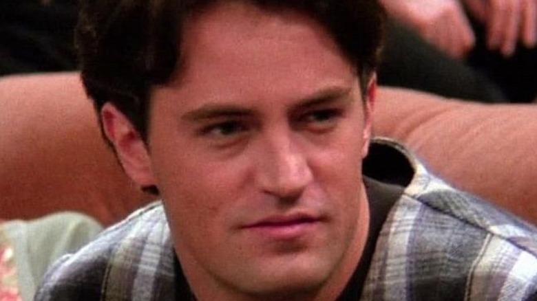 Chandler looks skeptical in Friends