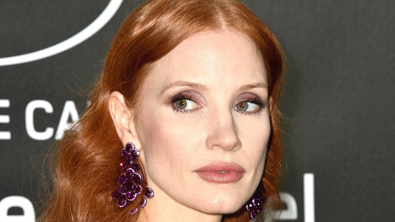 Chastain poses at event