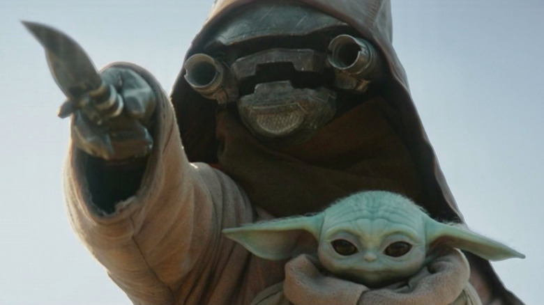 Scrapjaw Motito and Baby Yoda in The Mandalorian