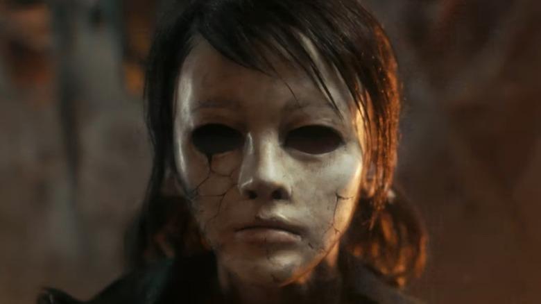 creepy girl in mask