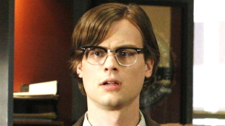 Spencer Reid looking perplexed