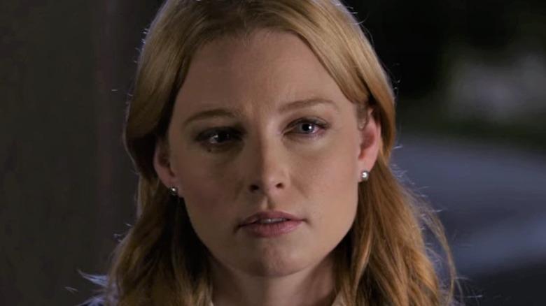 Ashley Seaver looking sad