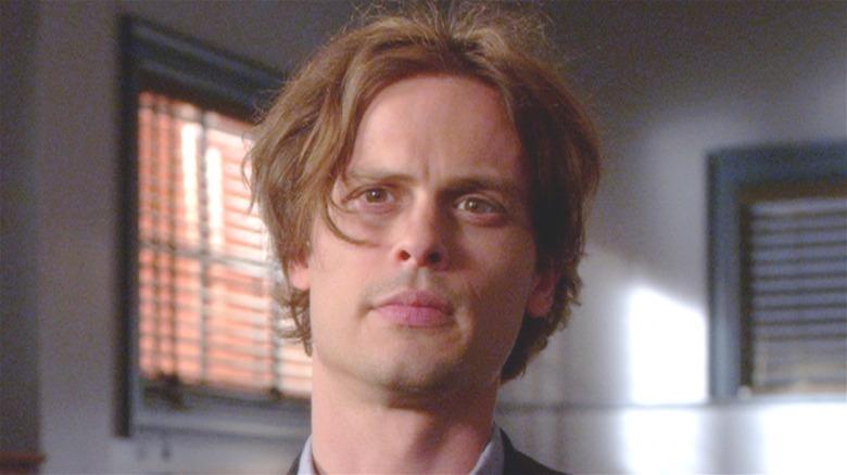 Spencer Reid looking inquisitive