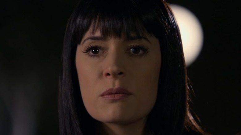 Emily Prentiss with bangs on Criminal Minds