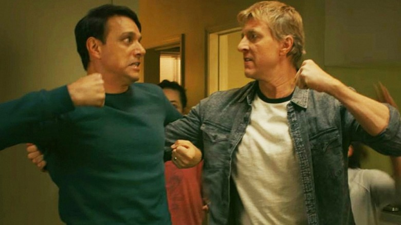 Daniel LaRusso and Johnny Lawrence facing off