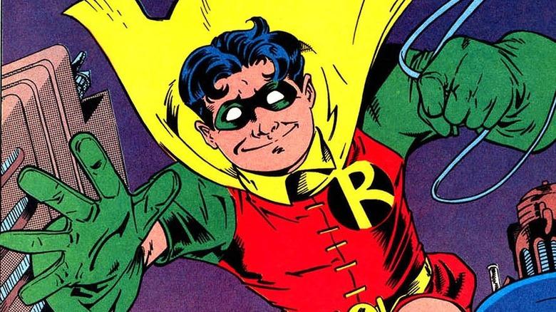 Dick Grayson's Robin swings
