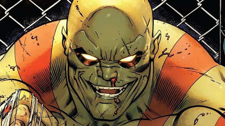 Drax the Destroyer grinning