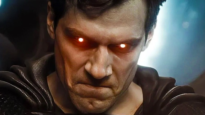 Superman firing heat vision