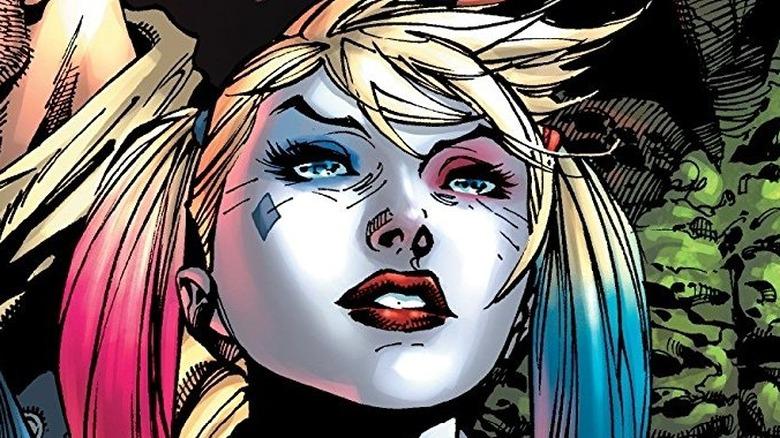 Harley Quinn wearing pigtails