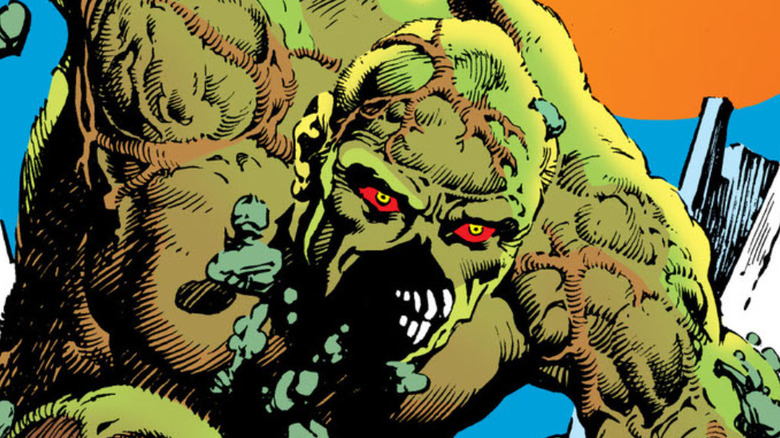"""Swamp Thing on the cover of """"Swamp Thing Vol 1 #13"""""""