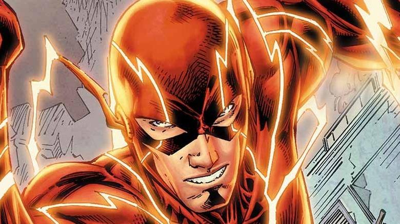 The Flash running forward