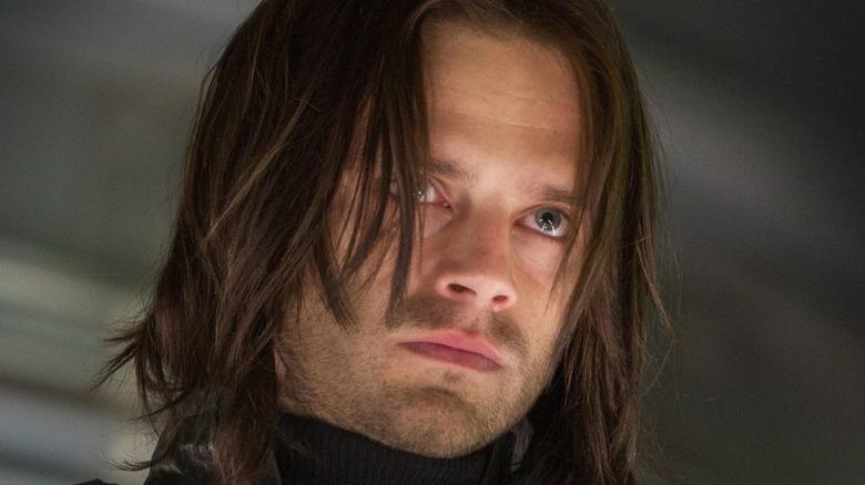 Sebastian Stan glares