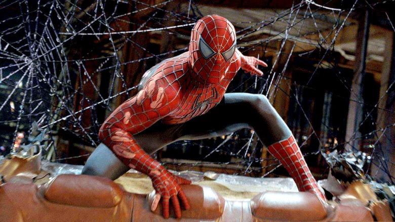 Tobey Maguire as Spider-Man in Spider-Man 3
