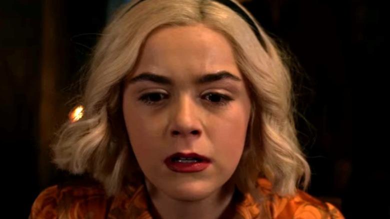 Sabrina looking upset