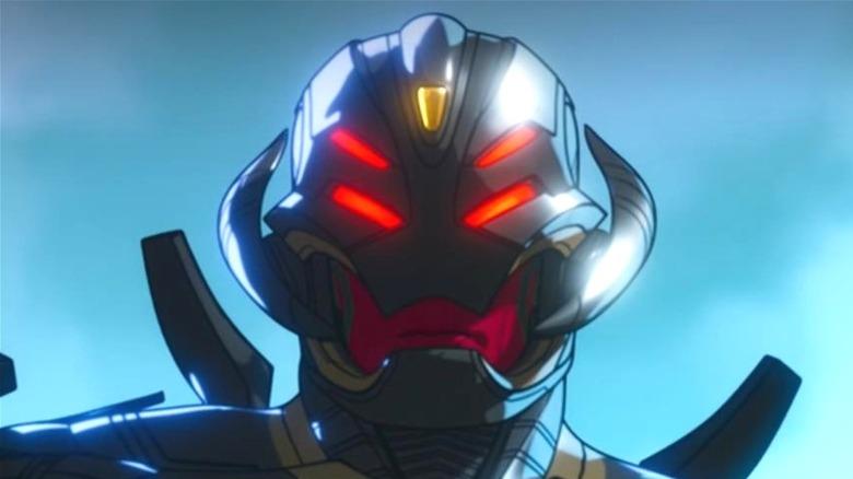 Infinity Ultron glowers at his enemies