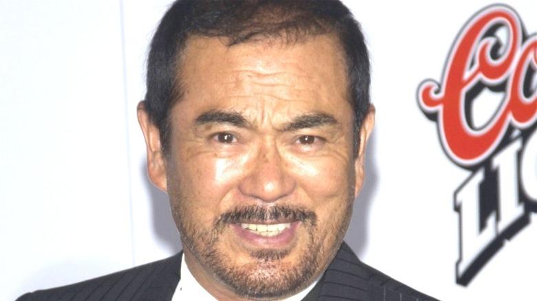 Sonny Chiba smiling red carpet