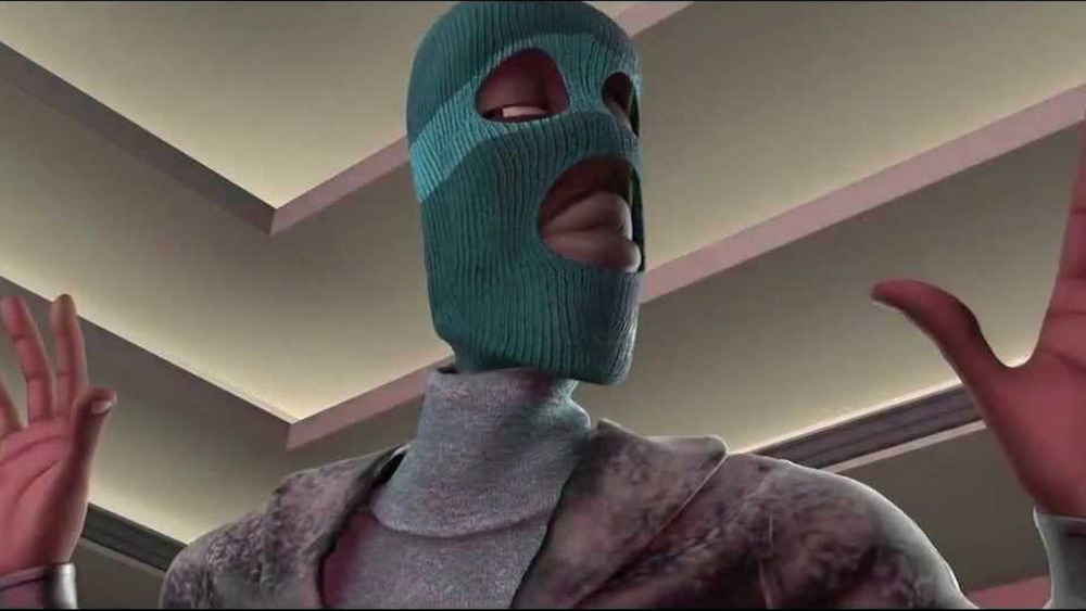 Frozone in mask