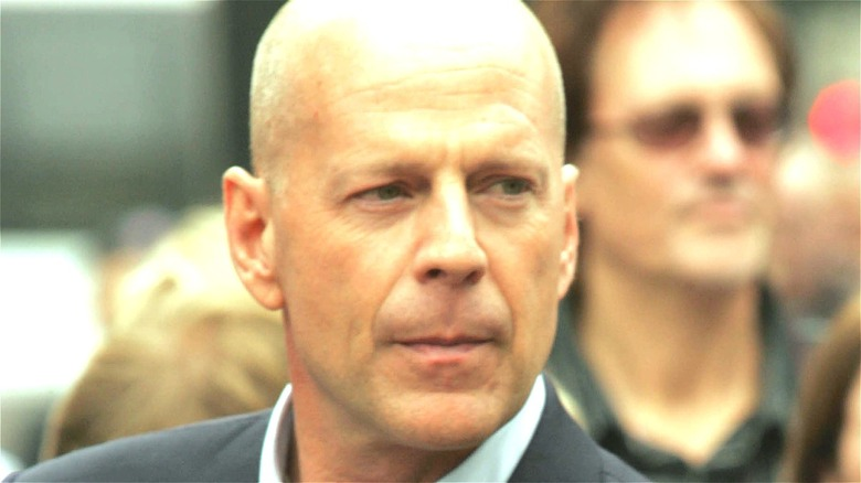 Bruce Willis Suit in Crowd