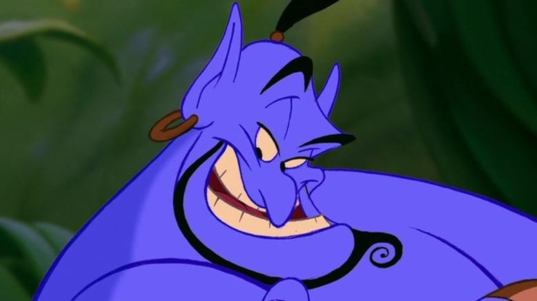 Genie smirking