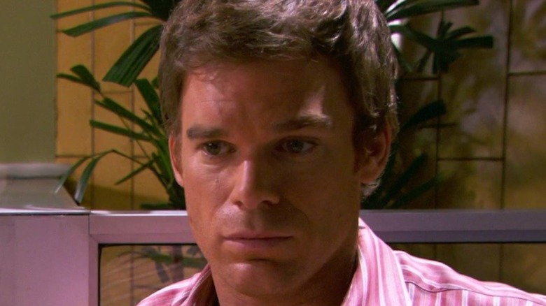 Michael C. Hall as Dexter staring