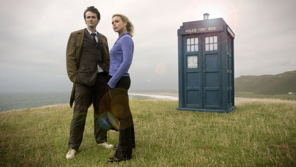 David Tennant and Billie Piper in the Doctor Who episode New Earth