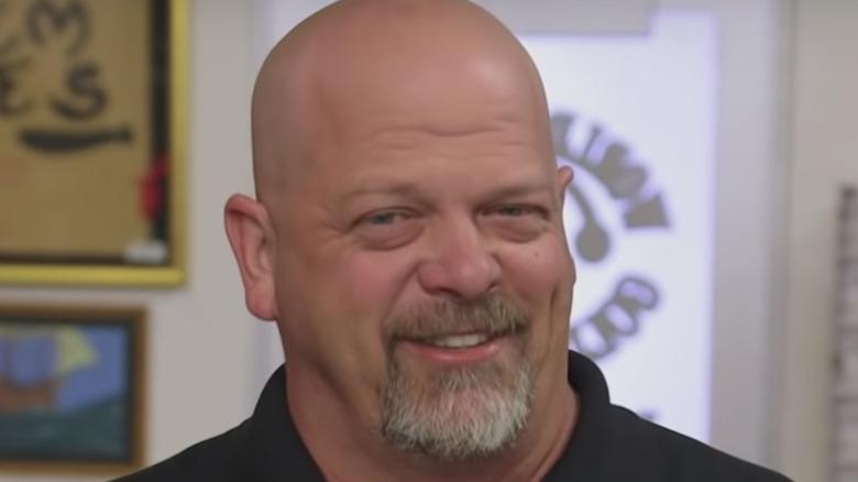 Rick Harrison smiling on Pawn Stars