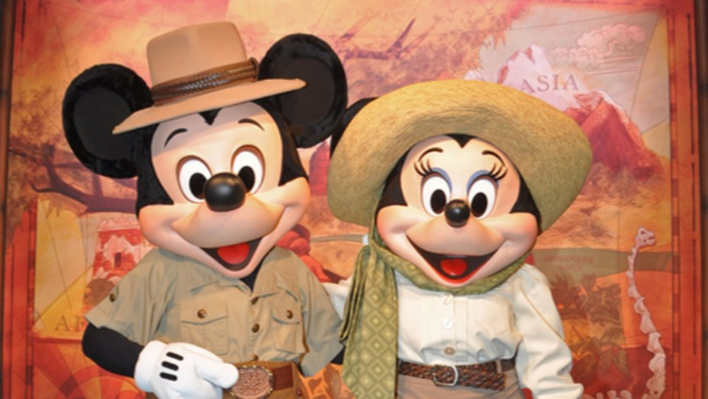 Mickey and Minnie Mouse at Disney's Animal Kingdom