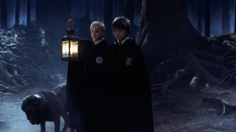 Harry Draco forest scared