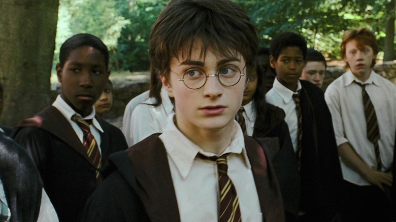 Harry Potter in Hogwarts robe