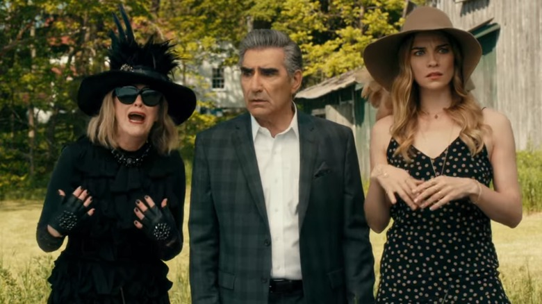 Catherine O'Hara, Eugene Levy, and Annie Murphy on Schitt's Creek