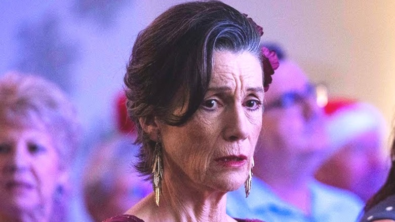 Dame Harriet Walter The End frowning