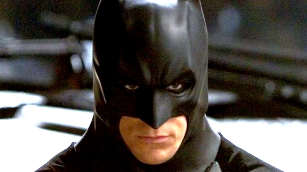 Batman glaring