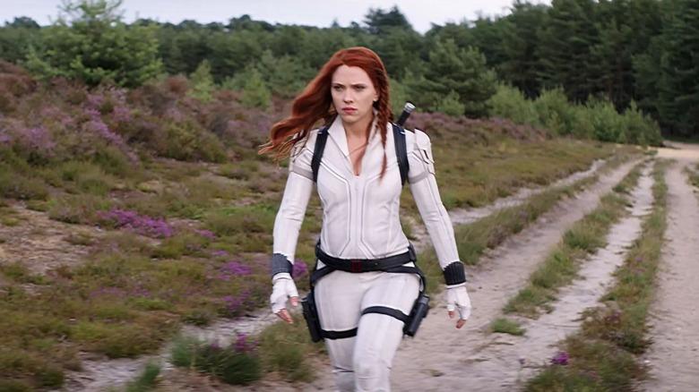 Black Widow walking