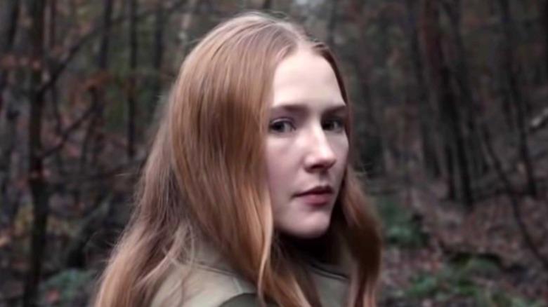 Franziska Doppler in woods Dark