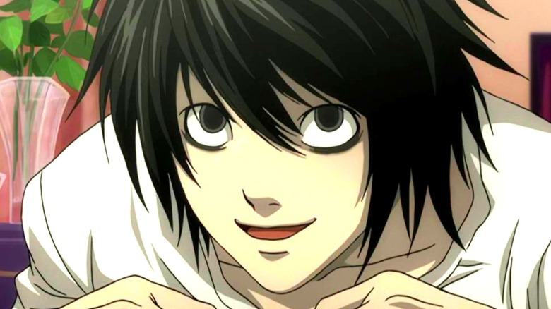 Death Note L smiling