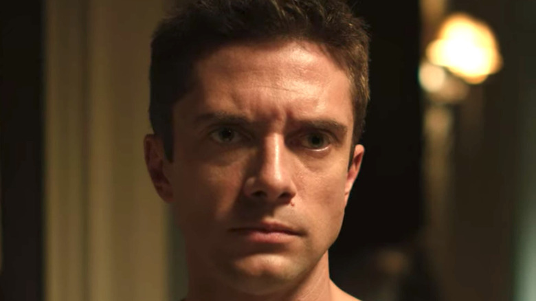 Topher grace looking scared