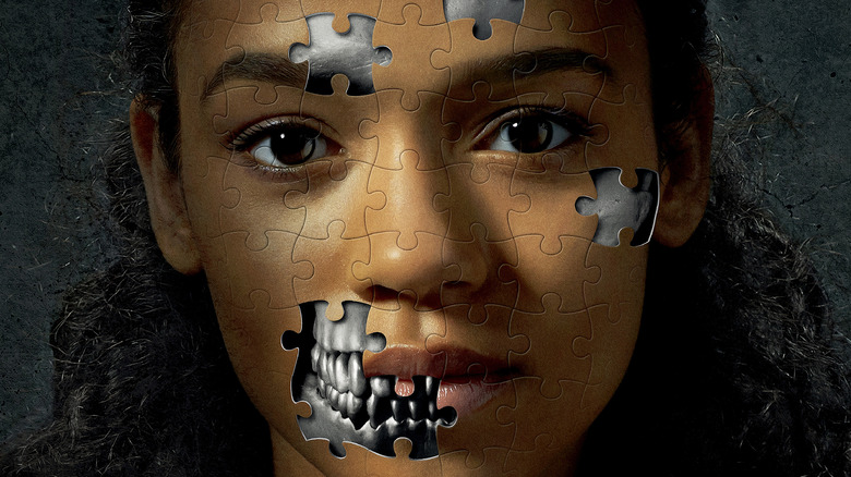 Taylor Russell on the poster for Escape Room (2019)