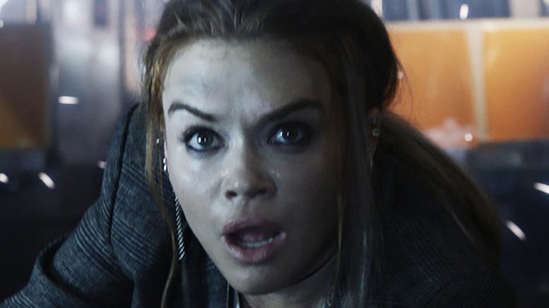 Rachel Ellis looking surprised